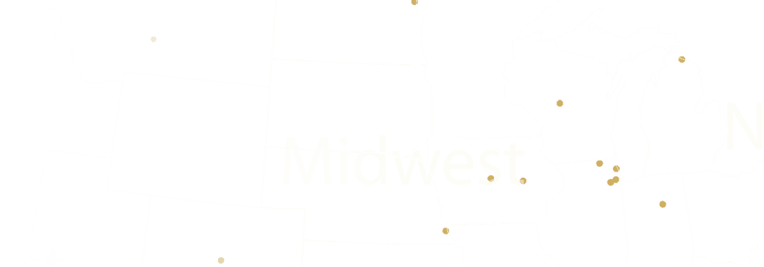 Midwest US Map